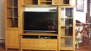 UNITÉ MURAL meuble television avec rangement et place multimedia