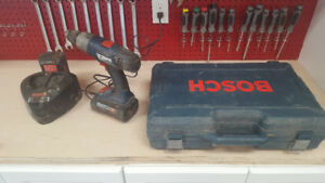 Bosch 36V Battery Hammer Drill, 2 Batteries, Charger and Case$9