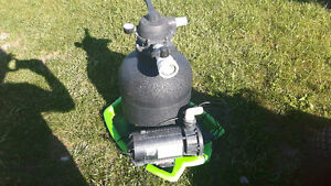 Small sand filter . And a pump
