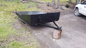 Flatdeck snowmobile/atv trailer with slide out ramp