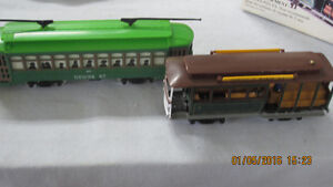 HO Scale 2 Classic Streetcars - Powell & Mason and Desire St