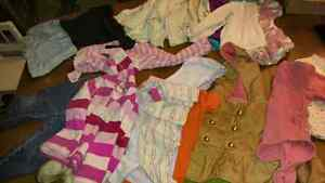 Mixes lots of baby girls clothes. 3 sizes in boxes.