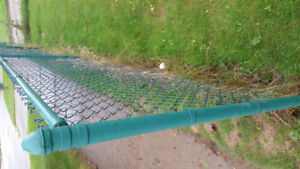 Fence chain link green with  post