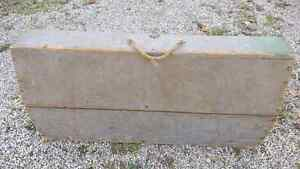 Very old wooden  tool  box