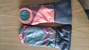 Handmade Leather Mitts
