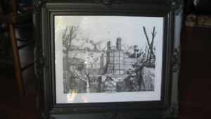 Framed pencil drawing print from Whales, UK