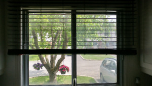 """2 available:BALI Custom Cut 2"""" CORDLESS Faux Wood Blinds 57Wx46H"""
