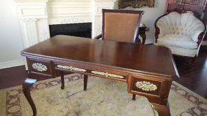 Weekend Only! - French Desk with Bombay Chair - Last One