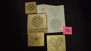 """Stampin Up Wood Stamps """"Polka Dot Punches"""" Scrapbooking Card New Strathcona County Edmonton Area image 1"""