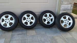 4/  MAZDA 3 ALUMINUM RIMS& ALL SEASON TIRES 5X114.3