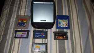 Nintendo Game Boy Advance SP with 6 games and case
