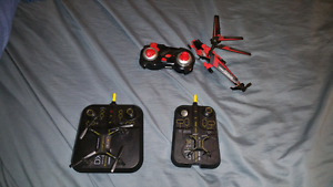 2 little drones and helicopter