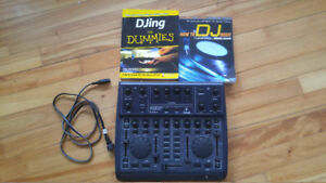 Behringer BCD2000 DJ controller with books