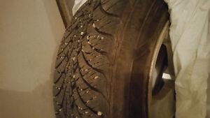 16inch Goodyear Winter tires 215/60R16on rims 5/120 bolt pattern