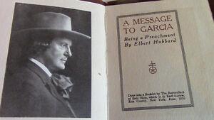 A Message to Garcia, Elbert Hubbard, Roycrofters, 1910 Kitchener / Waterloo Kitchener Area image 2