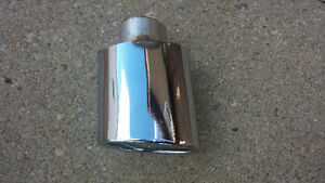 "2"" VINTAGE CHROME TAIL PIPE TIP"
