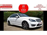 2013 MERCEDES C-CLASS C180 BLUEEFFICIENCY AMG SPORT PLUS SALOON PETROL
