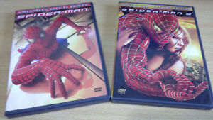 SPIDERMAN 1 AND 2 SPECIAL EDITION DVD'S