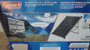Kit solaire cristallins de 100W complet contrôleur + inverter