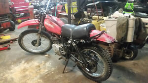 Honda 250 dirt bike