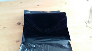 BLACK VELVET ARMANI CLUTCH - Best Offer