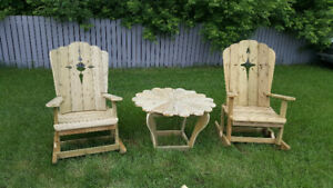 Deck chairs and tables(3 pcs)