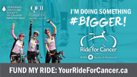 Ride for Cancer Online Facebook Auction (ends Sept 23)