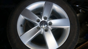 Volkswagon rims and winter tires