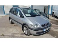 Vauxhall Zafira 1.8i 16v 2003 Design. 7 seater estate new mot trade in