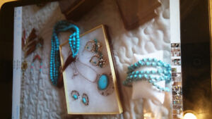 Various silver, mixed metals and turquoise