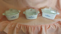Corning Ware 2 cassorolle dishes