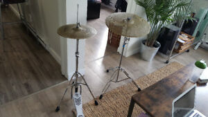 Zildjian L80 Low Volume Cymbals - Ride and Hi Hat, With Stands