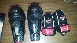 Boys shin pads and elbow pads (hockey)