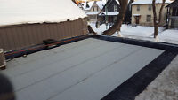 Flat roofing repairs and reroofs available with free estimates