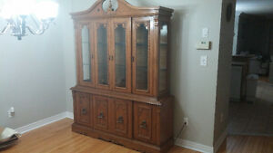 Hutch and dining set for sale
