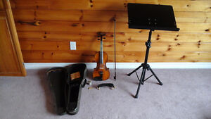 Full size and old violin & accessories