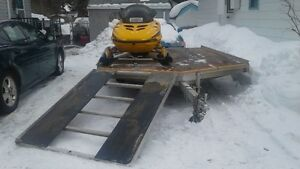 2013 Aluma Drive on/off snowmobile trailer
