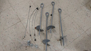 4 ground screw anchors - 16 inches long