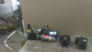 ELF INTENSIFIER PUMPS AND 2 LEIGH HYDRAULIC MOTORS.