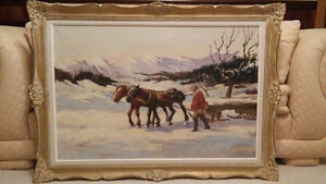 Listed French artist Charles Daube oil painting