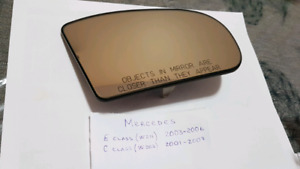 Right or left Sides Mirror Glass  for Mercedes