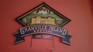 GRANVILLE ISLAND BREWING ON TAP WOODEN SIGN