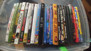 21 dvd and 2 blue rays...excel cond