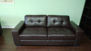 Modern Brown Leather Couch / Sofa $500 pay and pick up same day