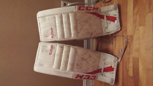 ccm goalie pads and reebok chest protector