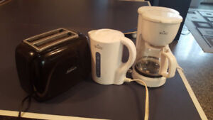 Coffee machine, Toaster, Kettle and Blender