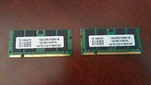 Mémoires DDR2 200pin SODIMM pour ordinateur portable
