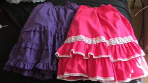 Square Dance Skirts will fit most sizes, very full
