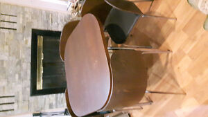 Wooden card/coffee table with chairs