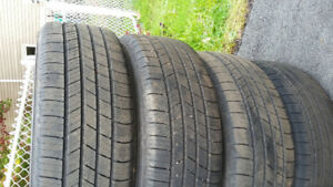 TWO SETS OF TIRES WITH RIMS-195/60R15